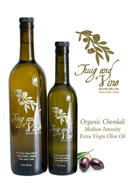 Organic Chemlali Medium Intensity Extra Virgin Olive Oil available at Love At First Bite Mercantile in Idaho Falls, Idaho | Twig & Vine Olive Oil Co.