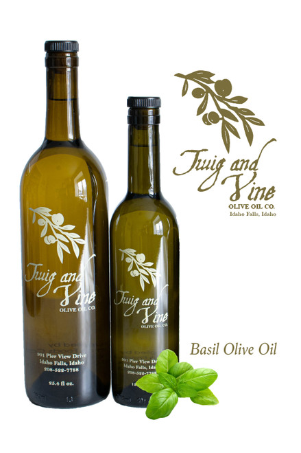 Basil Olive Oil available at Love At First Bite Mercantile in Idaho Falls, Idaho - Twig & Vine Olive Oil Co.
