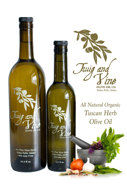 All Natural Organic Tuscan Herb Olive Oil available at Love At First Bite Mercantile in Idaho Falls, Idaho | Twig & Vine Olive Oil Co.