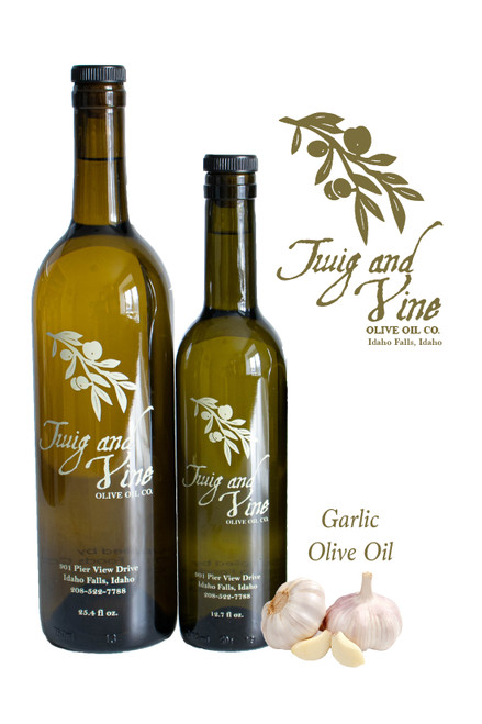 Garlic Olive Oil available at Love At First Bite Mercantile in Idaho Falls, Idaho | Twig & Vine Olive Oil Co.