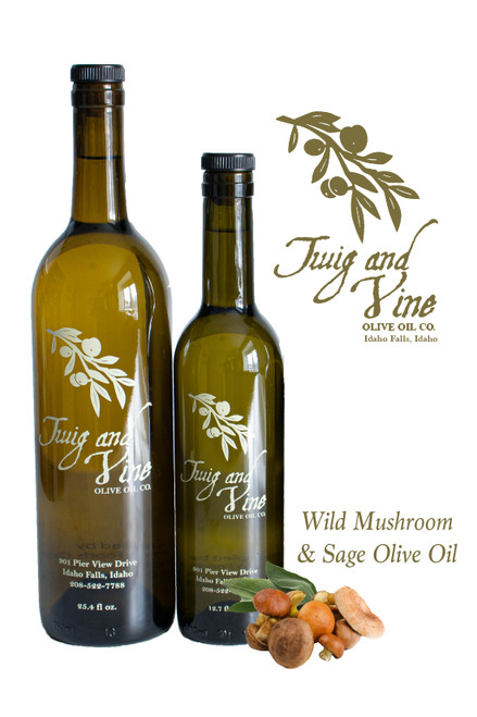 Wild Mushroom & Sage Infused Olive Oil available at Love At First Bite Mercantile in Idaho Falls, Idaho