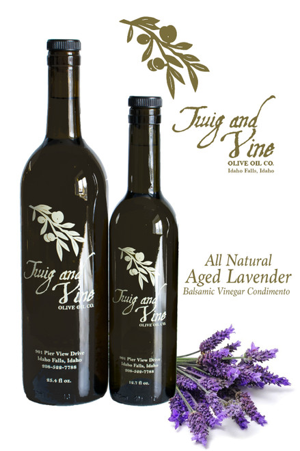 All Natural Aged Lavender Balsamic Vinegar Condimento available at Love At First Bite Mercantile in Idaho Falls, Idaho | Twig & Vine Olive Oil Co.