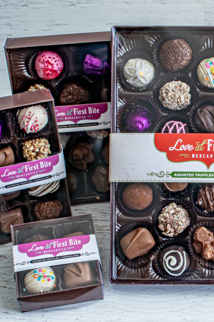Truffles and Chocolate variety packs at Love At First Bite in Idaho Falls, Idaho