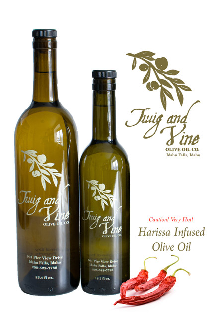 All Natural Harissa Infused Olive Oil available at Love At First Bite Mercantile in Idaho Falls, Idaho | Twig & Vine Olive Oil Co.