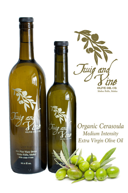 Organic Cerasuola Robust Intensity Extra Virgin Olive Oil available at Love Art First Bite Mercantile in Idaho Falls, Idaho | Twig & Vine Olive Oil Co.