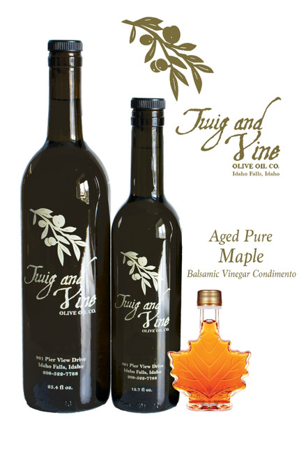 Aged Pure Maple Balsamic Vinegar available at Love At First Bite Mercantile in Idaho Falls, Idaho | Twig & Vine Olive Oil Co.