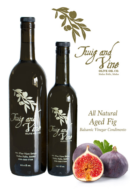 All Natural Aged Fig Balsamic Vinegar available at Love At First Bite Mercantile in Idaho Falls, Idaho | Twig & Vine Olive Oil Co.