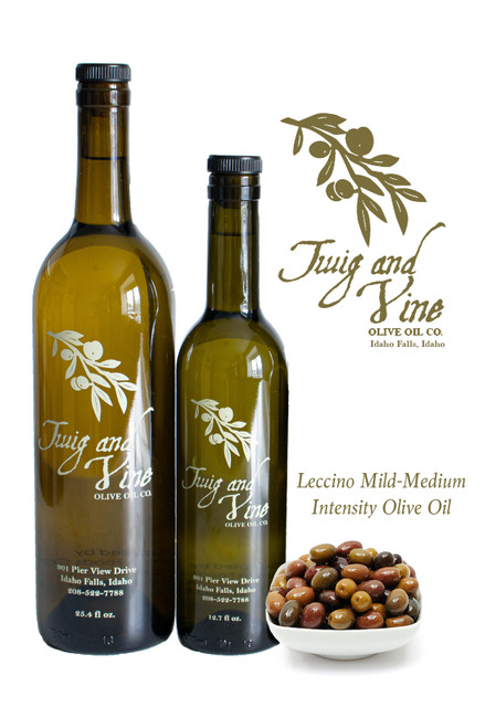 Leccino Mild-Medium Olive Oil available at Love at First Bite Mercantile in Idaho Falls, Idaho | Twig & Vine Olive Oil Co.
