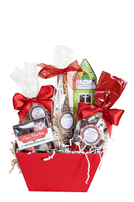 Medium Sweets n' Treats Gift Baskets available at Love At First Bite Mercantile in Idaho Falls, Idaho