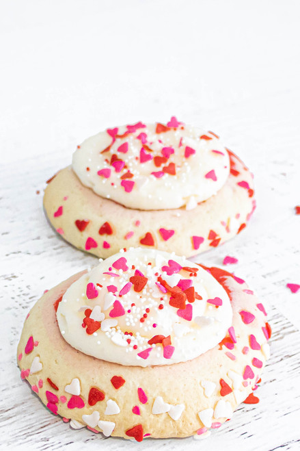 Valentine's Day Pinwheel Sugar Cookies available at Love At First Bite Mercantile in Idaho Falls, Idaho