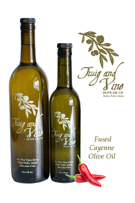 Cayenne Fused Olive Oil available at Love At First Bite Mercantile in Idaho Falls, Idaho | Twig & Vine Olive Oil Co.