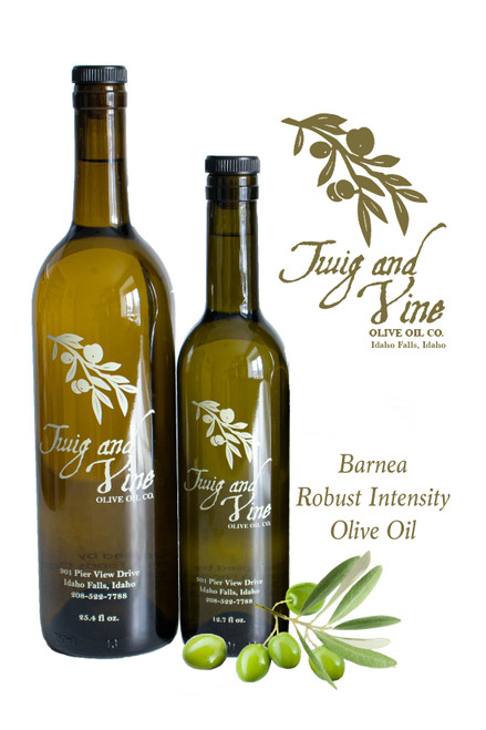 Barnea Robust Intensity Olive Oil available at Love At First Bite Mercantile in Idaho Falls, Idaho | Twig & Vine Olive Oil Co.