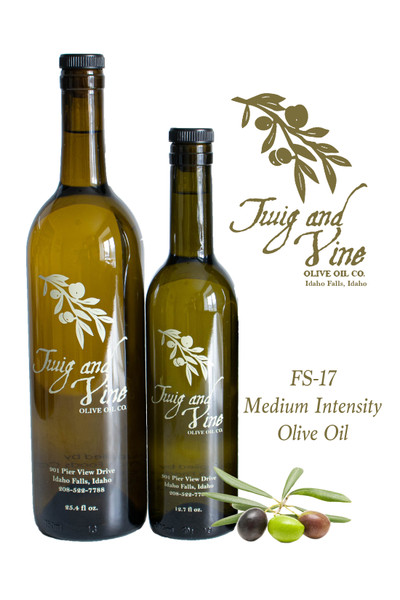 FS-17 Medium Intensity Olive Oil available at Love At First Bite Mercantile in Idaho Falls, Idaho | Twig & Vine Olive Oil Co.