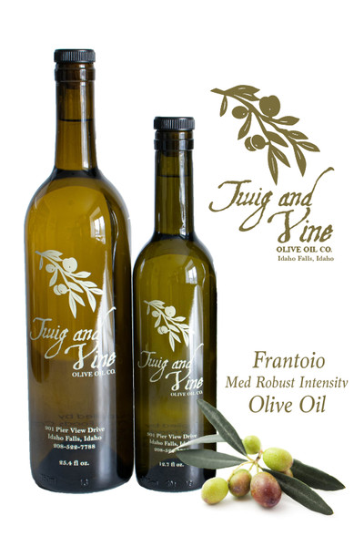 Frantoio Medium Robust Intensity Olive Oil available at Love At First Bite Mercantile in Idaho Falls, Idaho   Twig & Vine Olive Oil Co.