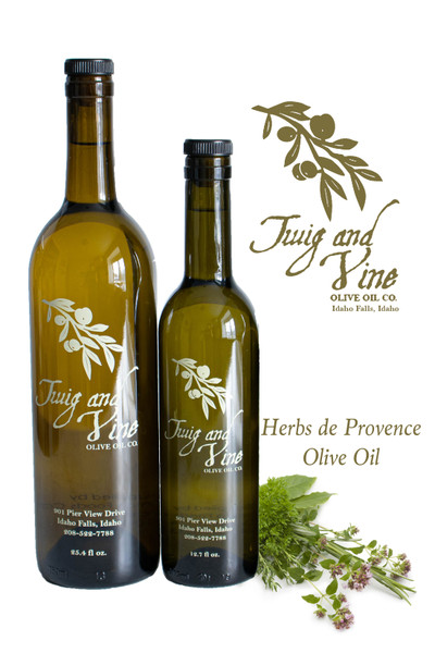 Herbs de Provence Extra Virgin Olive Oil available at Love At First Bite Mercantile in Idaho Falls, Idaho | Twig & Vine Olive Oil Co.