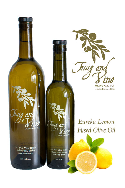 Eureka Lemon Infused Olive Oil available at Love At First Bite Mercantile in Idaho Falls, Idaho | Twig & Vine Olive Oil Co.