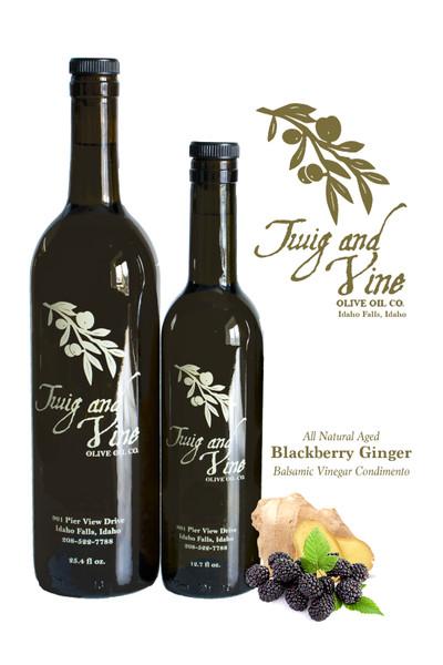 All Natural Aged Blackberry Ginger Balsamic Vinegar Condimento