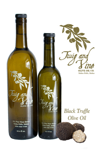 All Natural Black Truffle Pure Olive Oil available at Love At First Bite Mercantile in Idaho Falls, Idaho | Twig & Vine Olive Oil Co.
