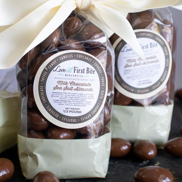 Milk Chocolate Sea Salt Almonds at Love At First Bite Mercantile in Idaho Falls, Idaho