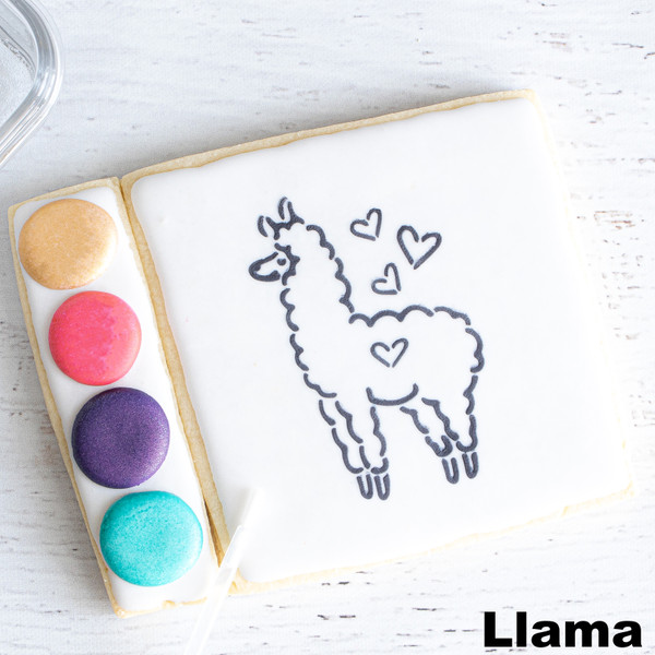 Llama Paintable Sugar Cookie at Love At First Bite in Idaho Falls, Idaho