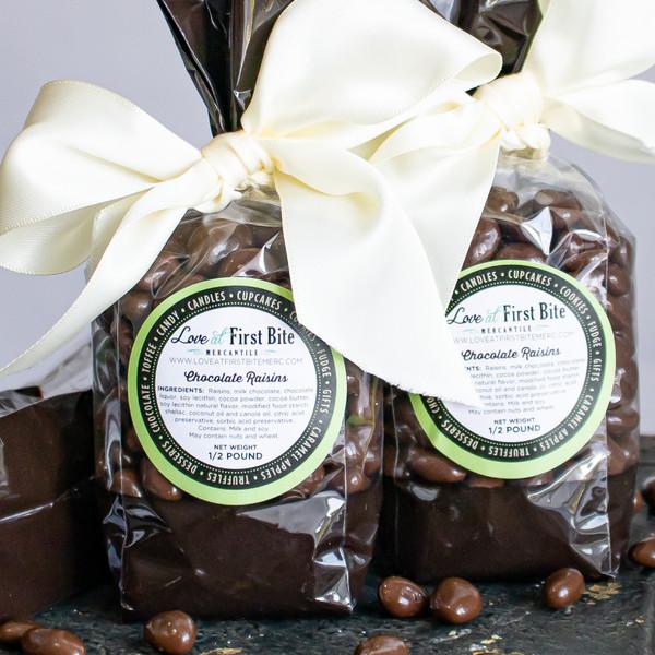 Chocolate Raisins at Love At First Bite Mercantile in Idaho Falls, Idaho