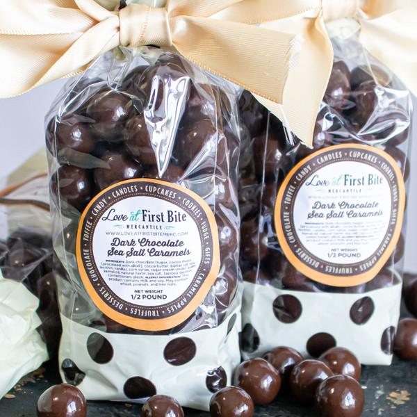 Dark Chocolate Sea Salt Caramels at Love at First Bite in Idaho Falls, Idaho