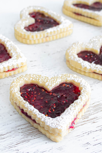 Raspberry Shortbread Cookies available at Love At First Bite Mercantile in Idaho Falls, Idaho