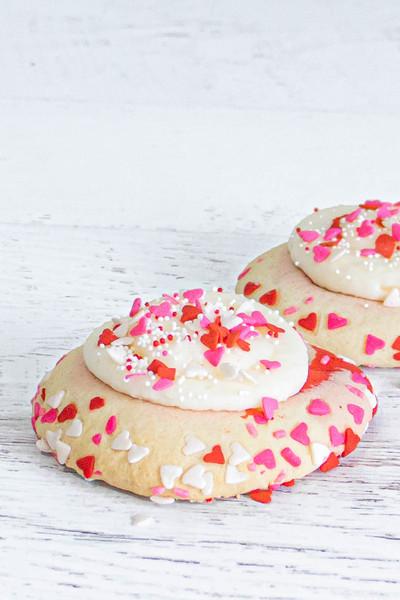 Valentine's Day Pinwheel Sugar Cookies available at Love At First Bite Mercantile in Idaho Falls, Idaho