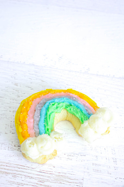 Rainbow Frosted Sugar Cookies available at Love At First Bite Mercantile in Idaho Falls, Idaho