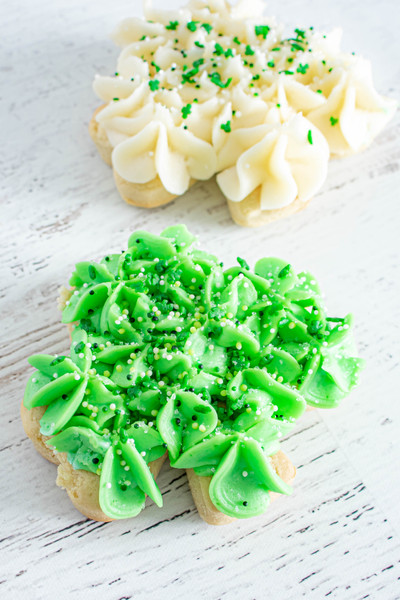Large Shamrock Frosted Sugar Cookies available at Love At First Bite Mercantile in Idaho Falls, Idaho