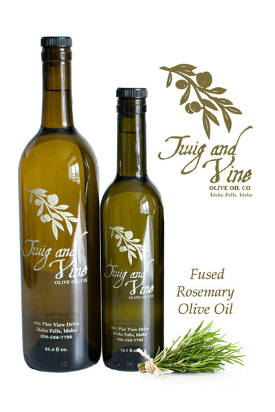 Rosemary Fused Olive Oil available at Love At First Bite Mercantile in Idaho Falls, Idaho   Twig & Vine Olive Oil Co.