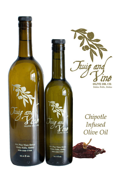 Chipotle Infused Olive Oil available at Love At First Bite Mercantile in Idaho Falls, Idaho | Twig & Vine Olive Oil Co.
