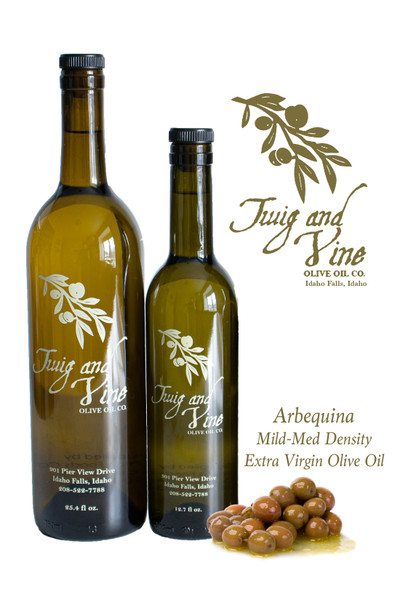 Arbequina Mild-Medium Density Olive Oil available at Love At First Bite Mercantile in Idaho Falls, Idaho | Twig & Vine Olive Oil Co.