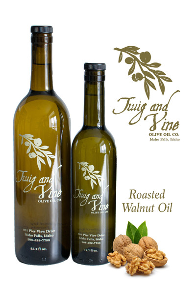 Roasted Walnut Oil available at Love At First Bite Mercantile in Idaho Falls, Idaho | Twig & Vine Olive Oil Co.