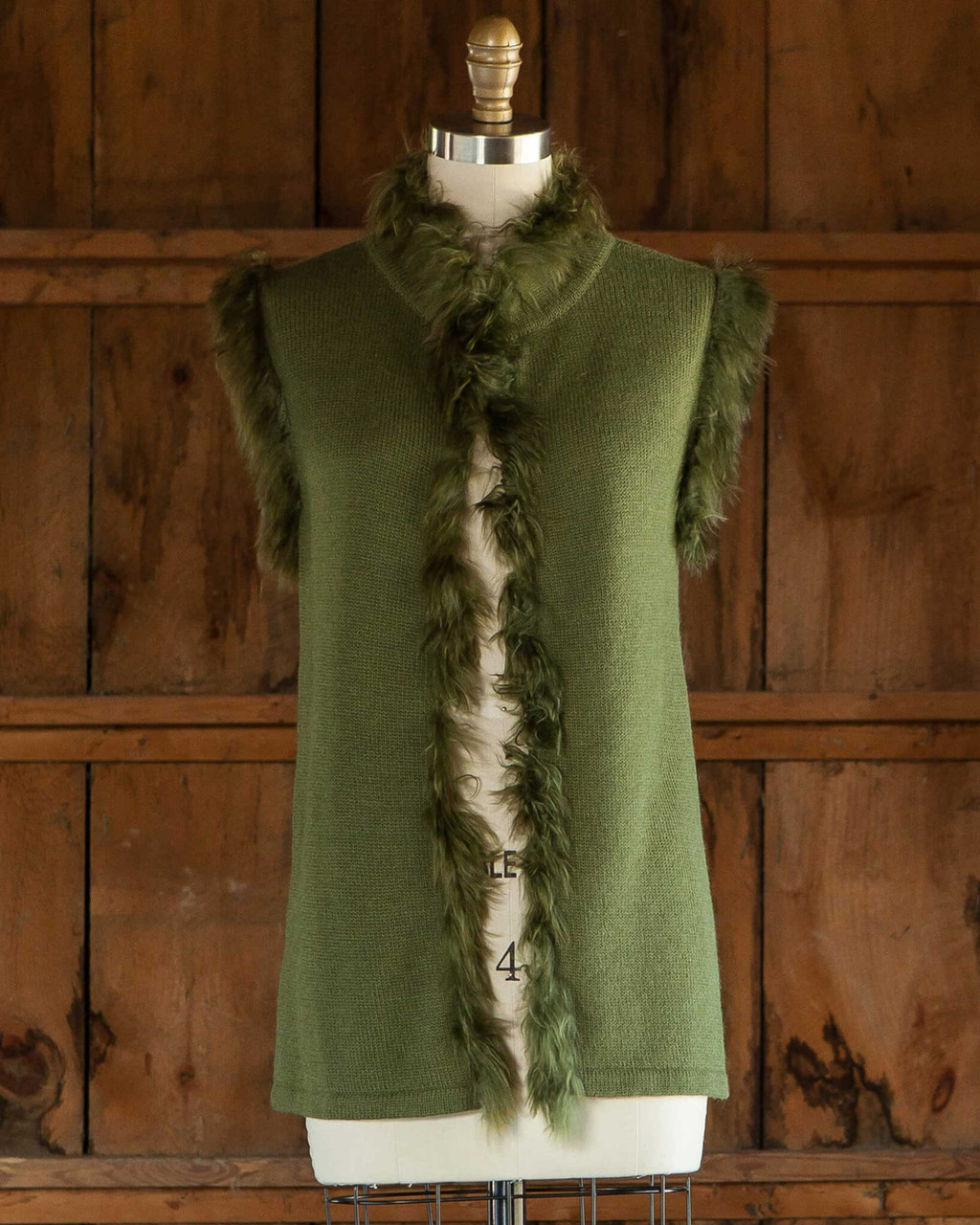 Alicia Adams Alpaca Fur Trimmed Vest, alpaca fur vest, 100 baby alpaca, alpaca sweater, alpaca sweaters womens, hunter green alpaca fur trimmed vest