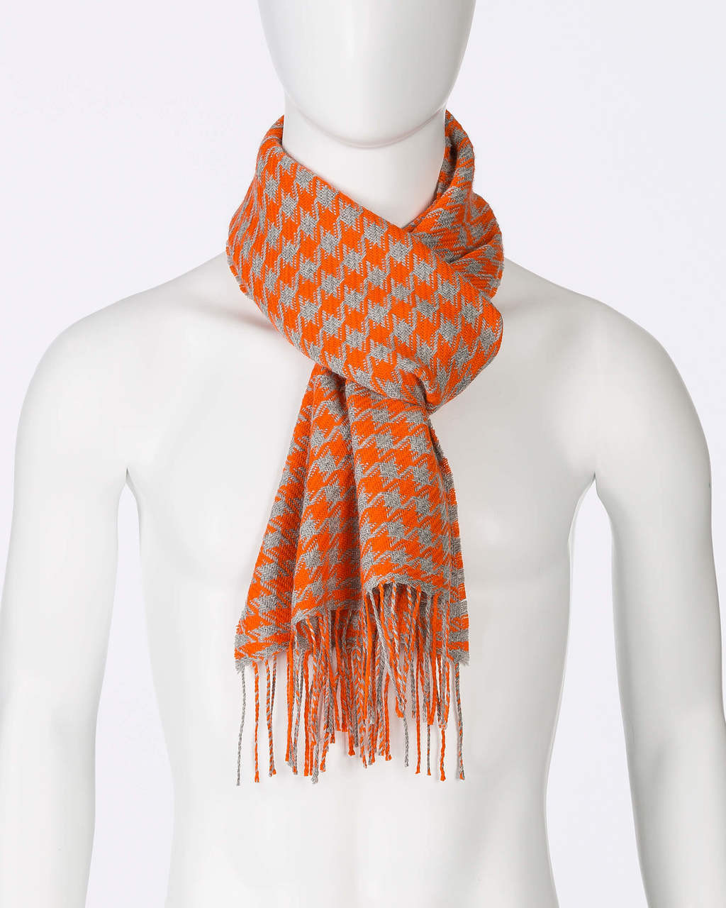 Alicia Adams Alpaca Houndstooth Scarf, alpaca scarf, 100 alpaca scarf, alpaca scarf mens, alpaca vs cashmere, orange and light grey alpaca scarf