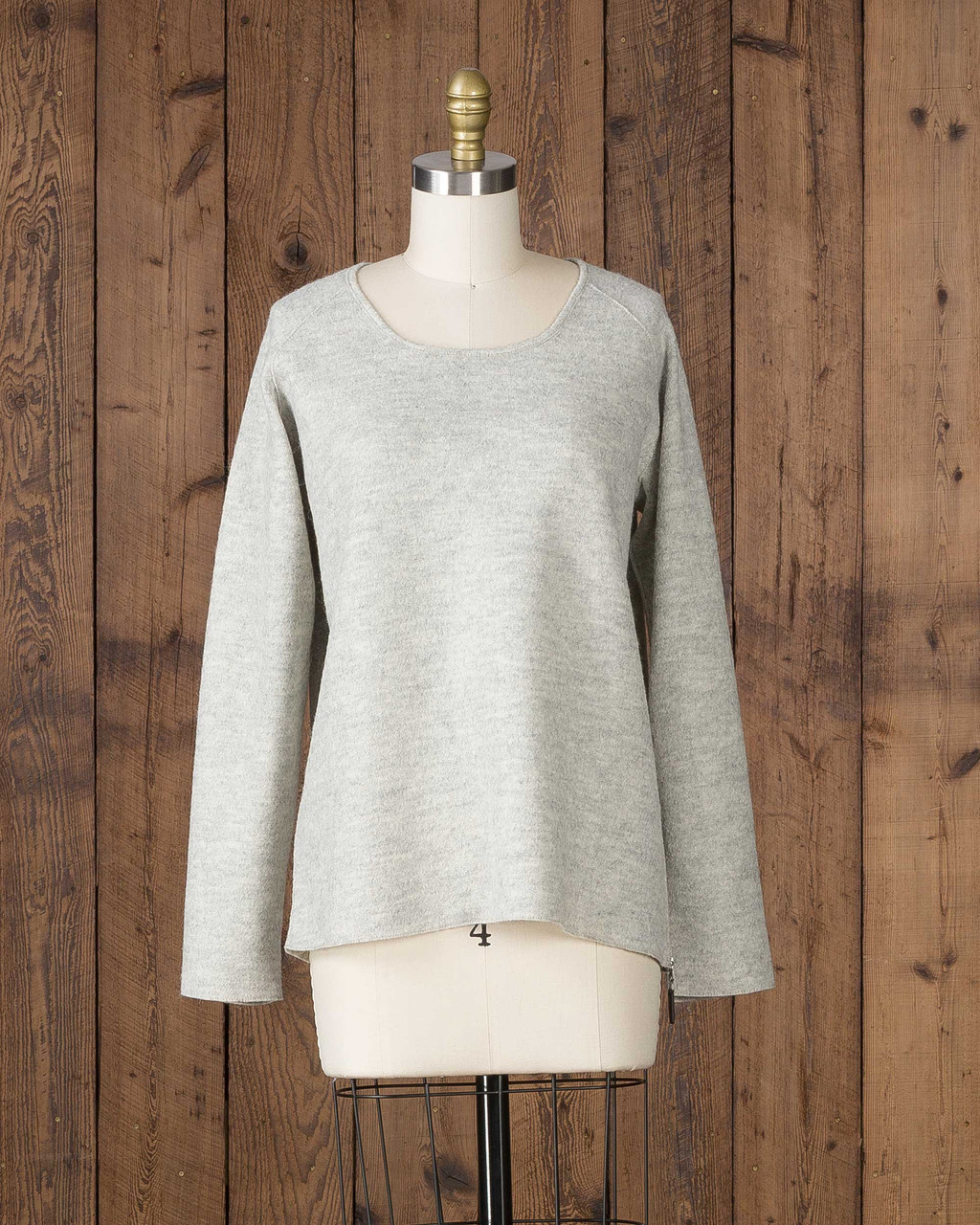 Alicia Adams Alpaca Verbier Side Zip, alpaca sweaters womens, alpaca clothing, baby alpaca sweater, alpaca vs cashmere, pearl grey alpaca sweater