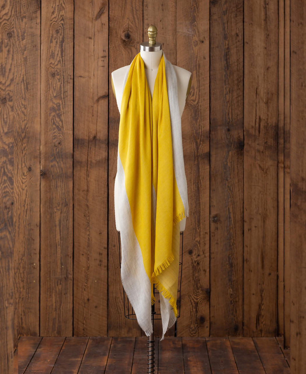 Alicia Adams Alpaca Alassio Wrap,  100 baby alpaca wrap, lightweight alpaca wrap, alpaca wrap, all fair-trade made, alpaca vs cashmere, light grey and yellow alpaca wrap