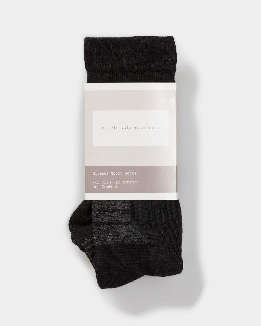 Alicia Adams Alpaca Olympus Sport Sock - 100% baby alpaca , alpaca socks mens, womens alpaca socks,  alpaca socks for sale, black and charcoal alpaca socks