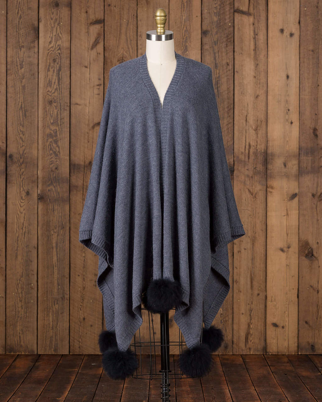 alicia adams alpaca alpina cape, alpaca cape with fur trim, alpaca poncho, alpaca poncho womens, alpaca vs cashmere, denim blue and navy baby alpaca cape