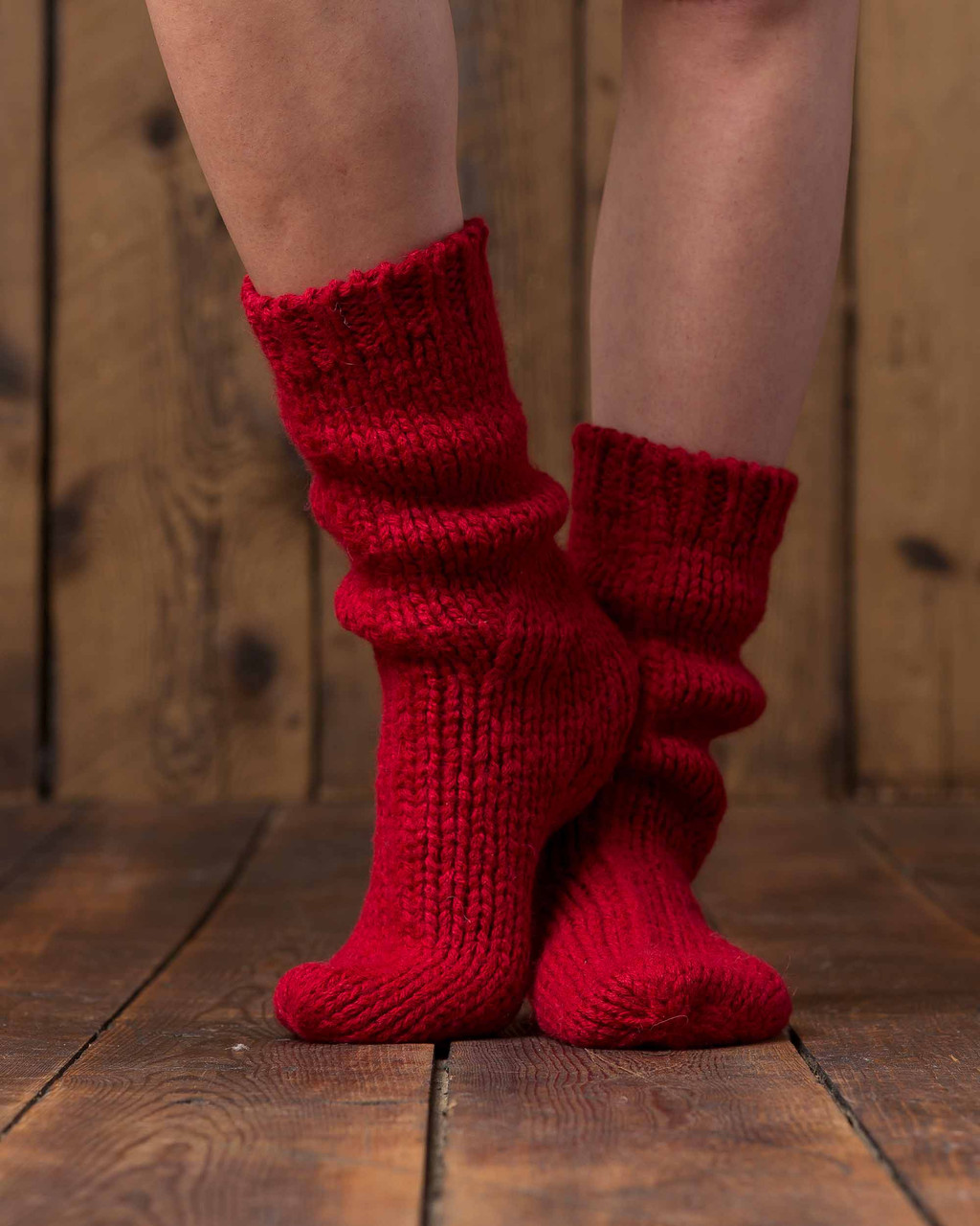 Alicia Adams Alpaca Lounge Sock, alpaca socks, womens alpaca socks, alpaca socks men, alpaca wool socks, scarlet alpaca socks