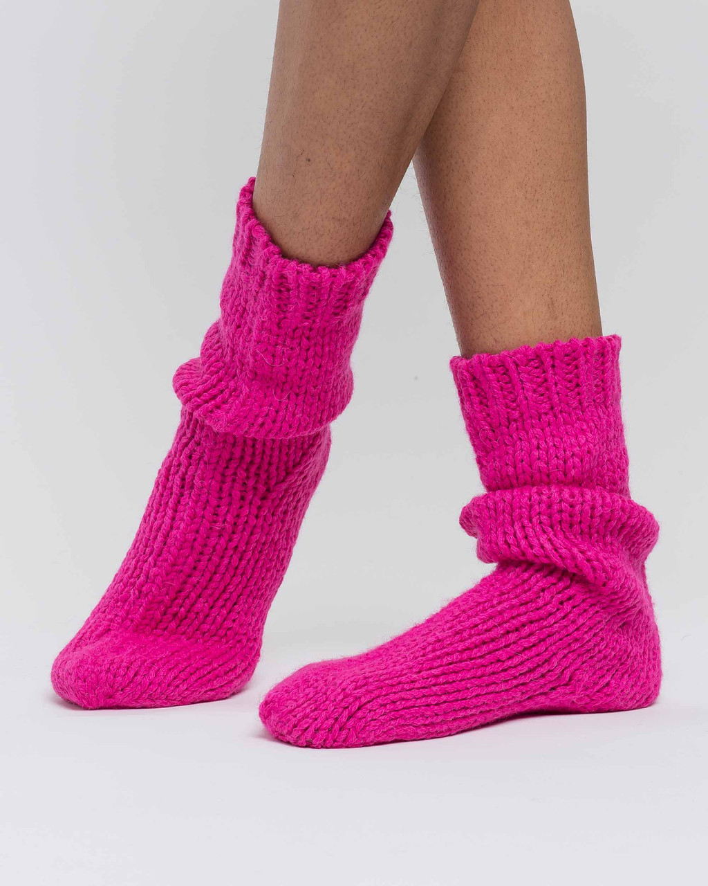 Alicia Adams Alpaca Lounge Sock, alpaca socks, womens alpaca socks, alpaca socks men, alpaca wool socks, shocking pink alpaca socks