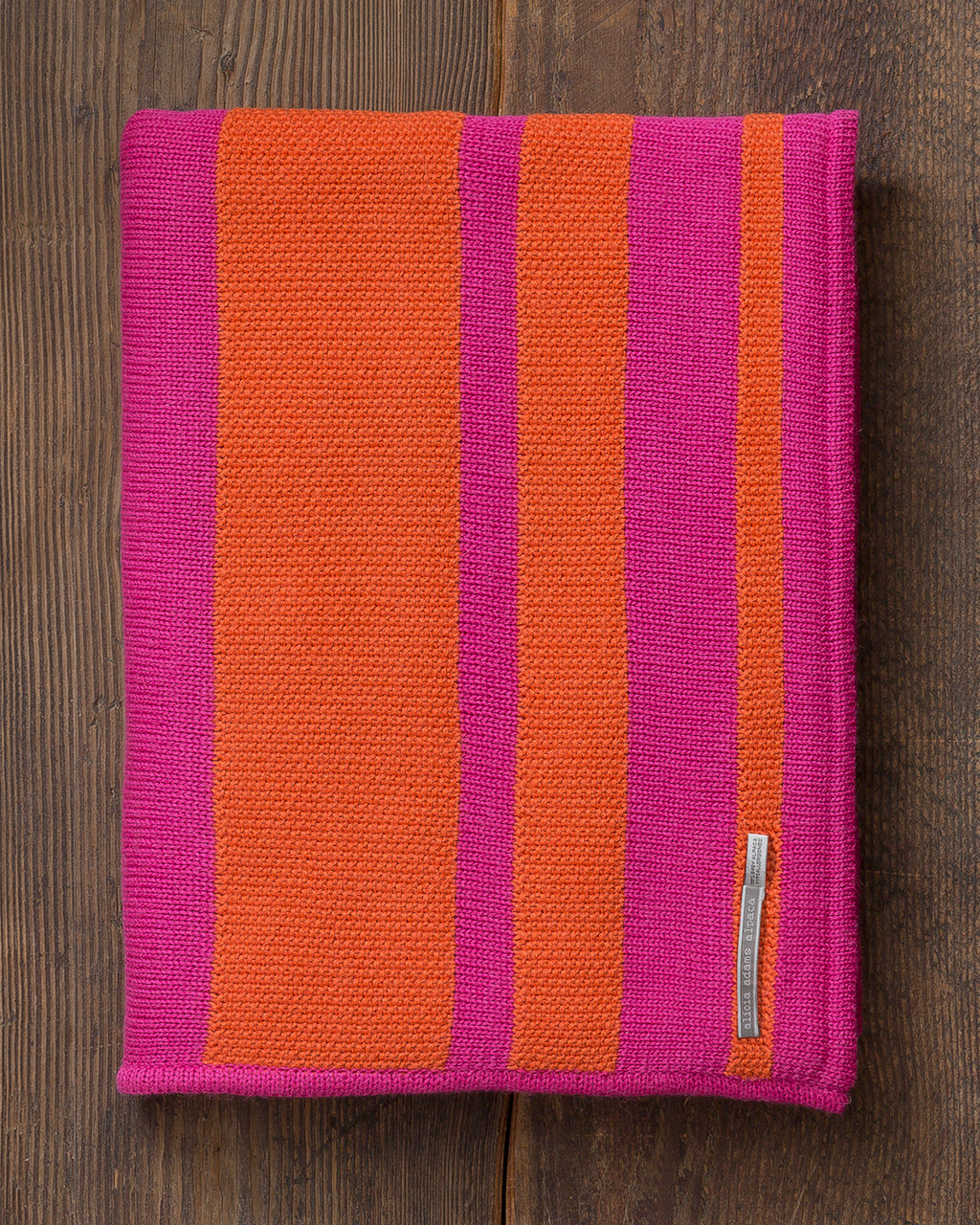 Alicia Adams Alpaca Malibu Throw, lightweight alpaca throw blanket, alpaca throw, alpaca vs cashmere, firecracker orange and shocking pink striped alpaca throw
