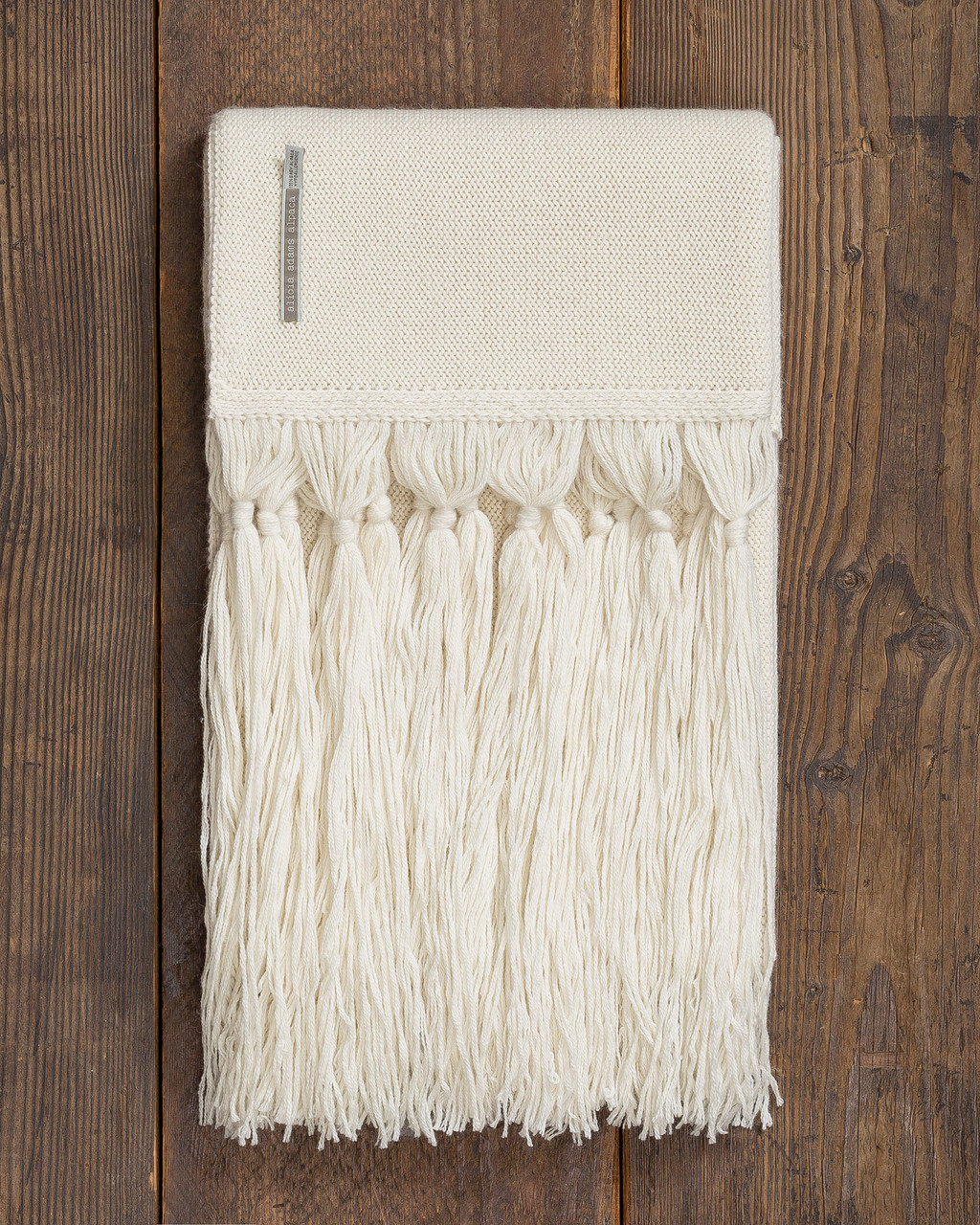 Alicia Adams Alpaca Cayman Throw, open weave alpaca throw blanket with tassels, alpaca throw, alpaca vs cashmere, ivory white alpaca throw