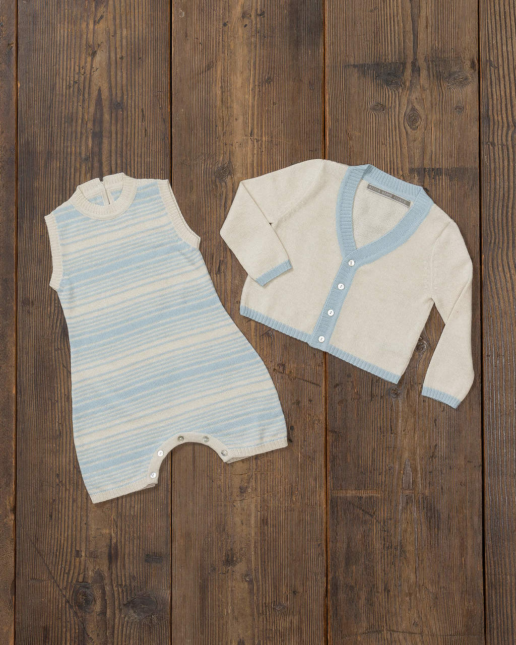Alicia Adams Alpaca Samie Onesie and Cardigan set, ultimate gift for baby and mommy, baby alpaca onesie, light blue and ivory baby alpaca clothing set