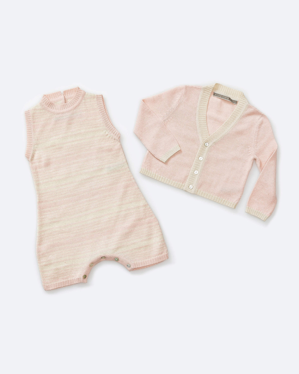 Alicia Adams Alpaca Samie Onesie and Cardigan set, ultimate gift for baby and mommy, baby alpaca onesie, light pink and ivory baby alpaca clothing set