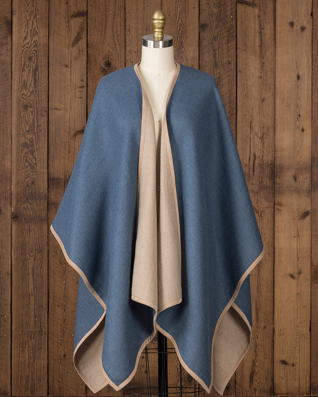 Alicia Adams Alpaca Vienna Cape, alpaca poncho cape for women, alpaca poncho, alpaca poncho womens, alpaca vs cashmere, dutch blue and light taupe womens cape