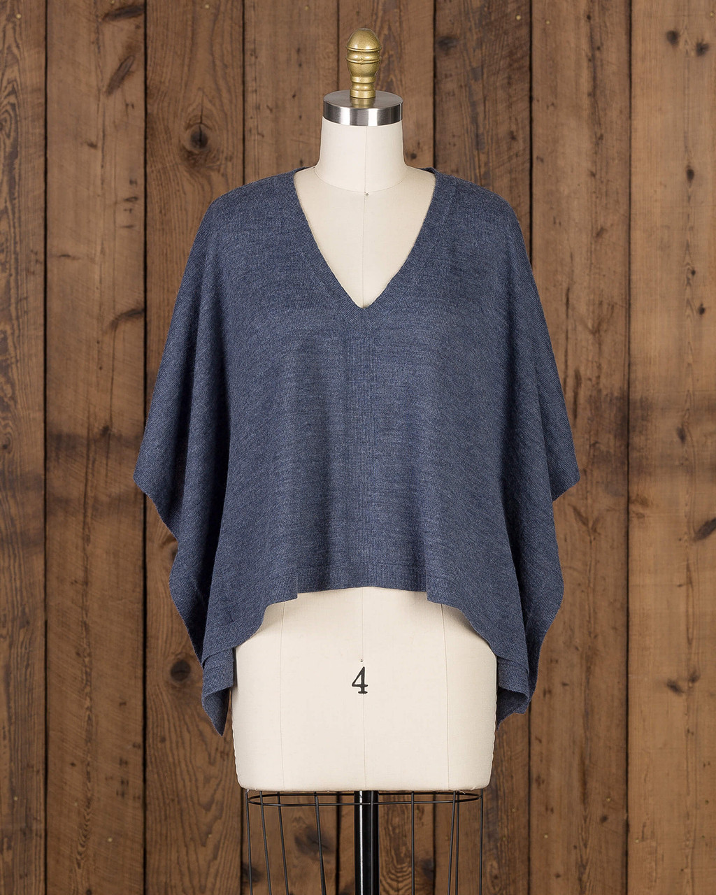 alicia adams alpaca frankie top, womens alpaca sweater, lightweight alpaca sweater,  denim blue womens alpaca sweater