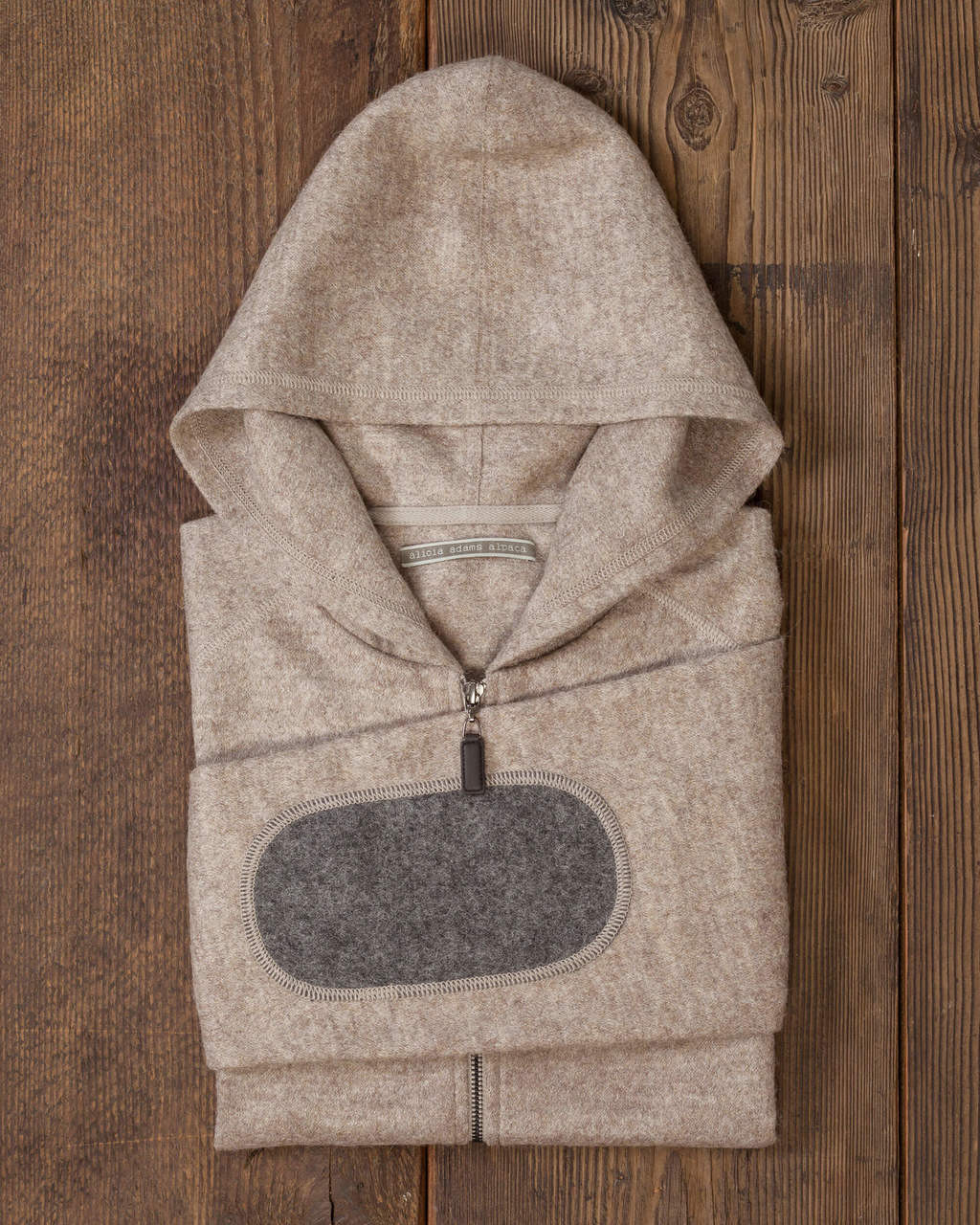 Alicia Adams Alpaca Verbier Zip Up For Women, alpaca sweater hoodie for women, alpaca sweater womens, light taupe tan alpaca zip up hoodie