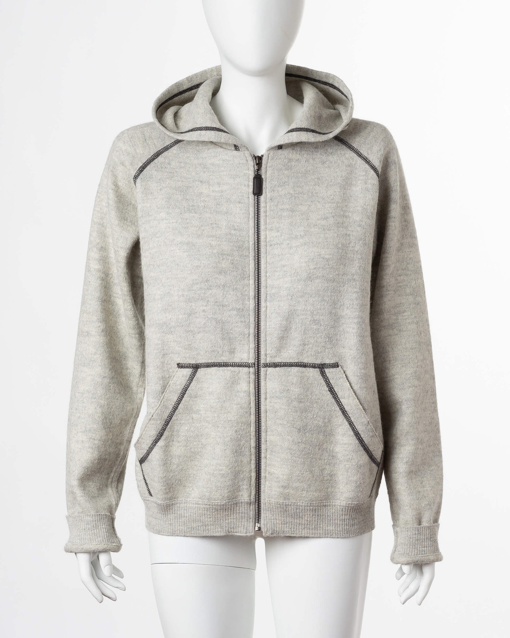 Alicia Adams Alpaca Verbier Zip Up For Women, alpaca sweater hoodie for women, alpaca sweater womens, pearl grey alpaca zip up hoodie